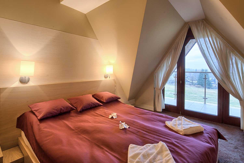 Apartament w Zakopanem Atlantyk SPA - sypialnia małżeńska