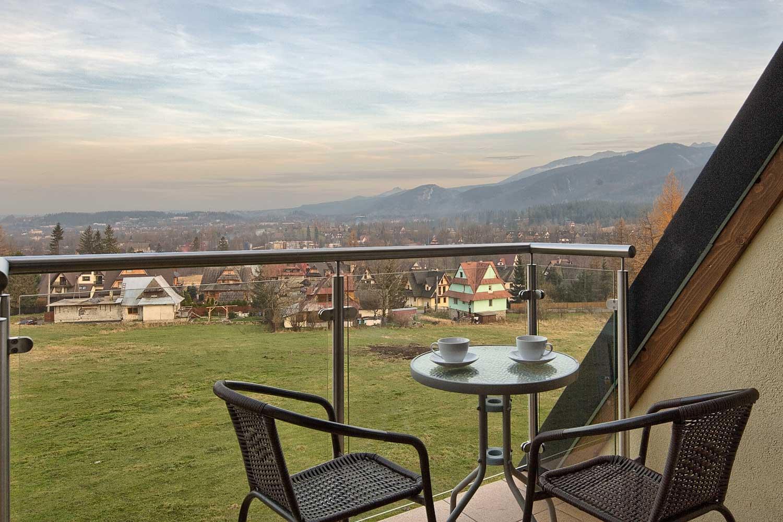 widok z balkonu apartamentu Atlantyk SPA