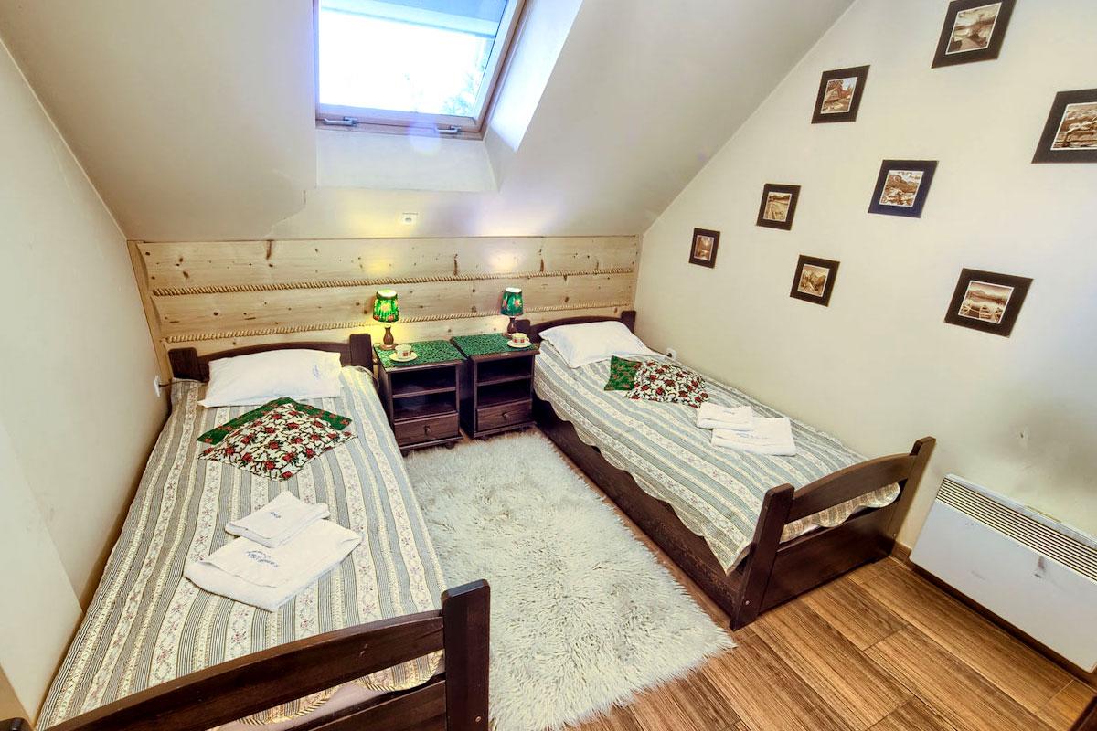 Apartament w Zakopanem Góralski SPA - sypialnia